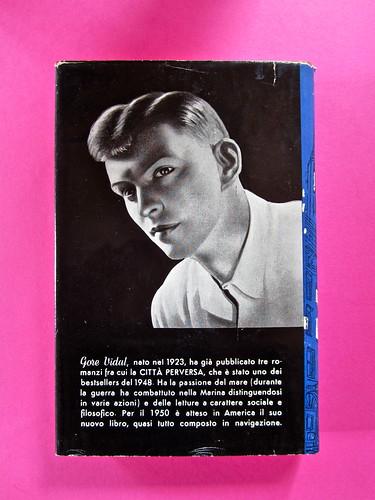 Gore Vidal, La città perversa, Elmo editore 1949. (copia 2) Quarta di sovracoperta (part.), 1
