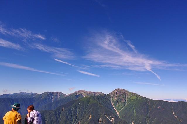 カップルと白嶺三山