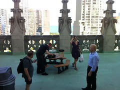 On the Tribune roof
