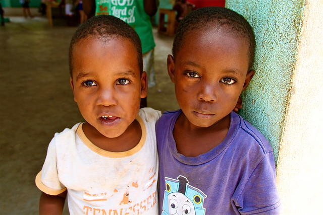 Two orphans in Haiti. Photo courtesy of the Global Orphan Project.