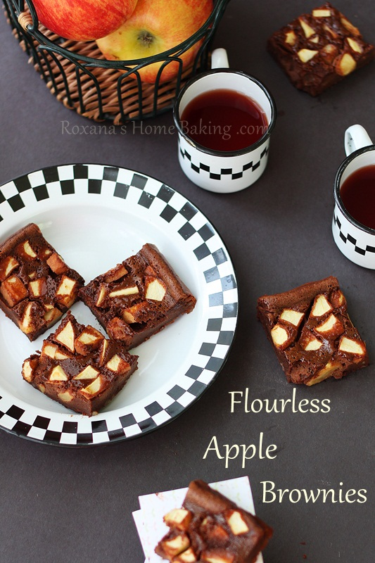 flourless apple brownies #chocolateparty
