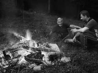 Dad & Jake BluRidge Campfire 2012