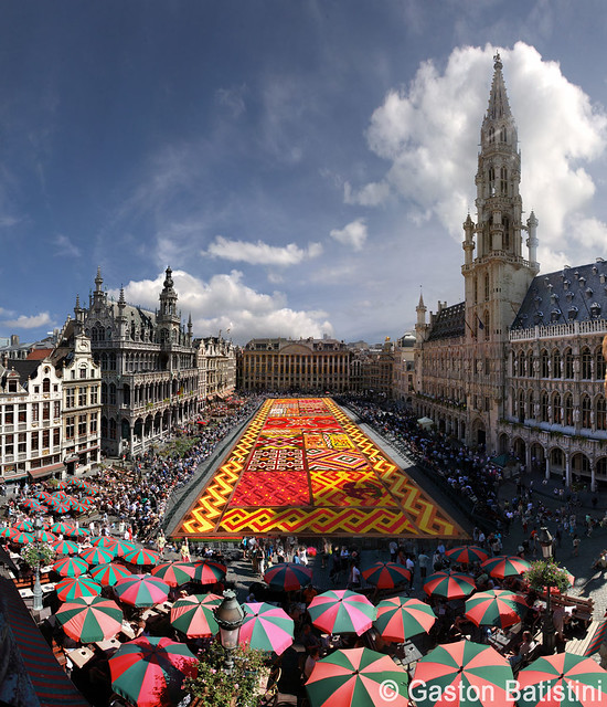 From the most exclusive and secret place. Carpet flower 2012, Great Market, Brussels, Belgium