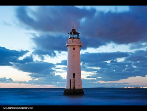 longexposure lighthouse seascape lightpainting colour liverpool coast seaside structure nighttime coastal le nightsky bluehour afterdark hightide wirral newbrighton seawater