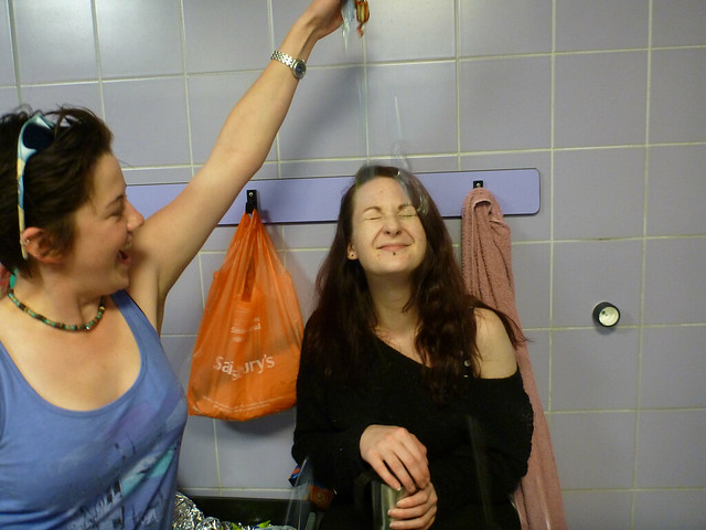 sara and the chocolate shower