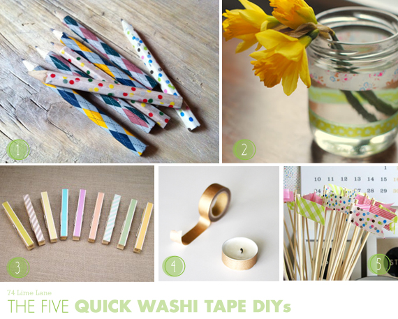 {the five} quick washi tape DIYs