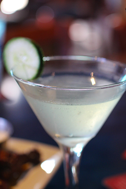 Cucumber Martini, Blu Que Island Grill, Siesta Key, Sarasota, FL