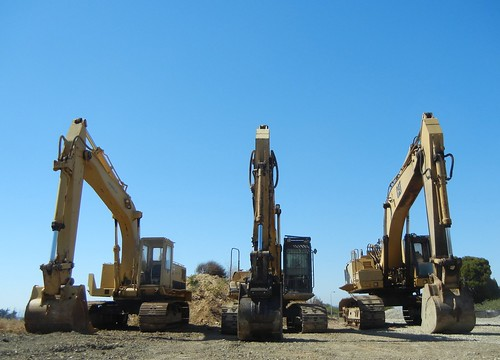 heavy machinery at Eastshore State Park