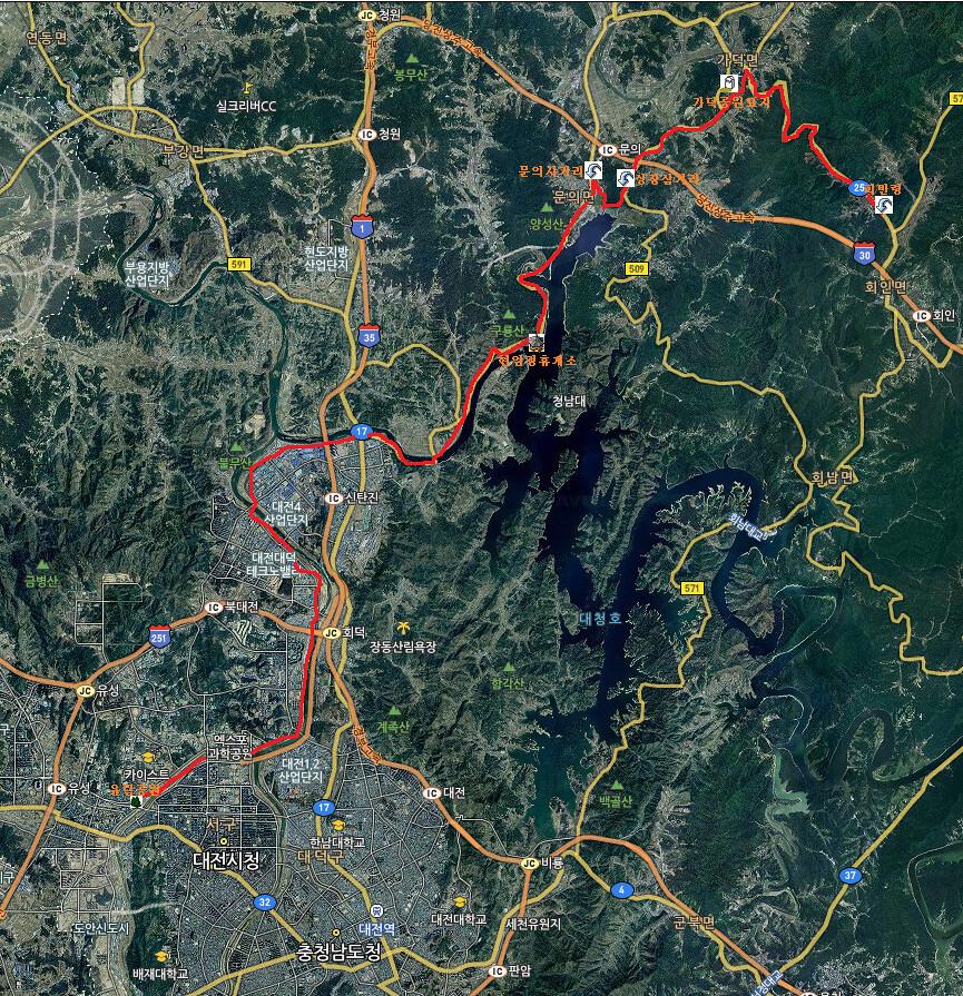 map Daejeon-Piballeyong