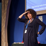Francesca Simon | Children's author Francesca Simon surveys the audience