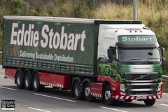 Volvo FH 6x2 Tractor - PX10 DCZ - Mikasa Gwendoline - Green & Red - Eddie Stobart - M1 J10 Luton - Steven Gray - IMG_6110