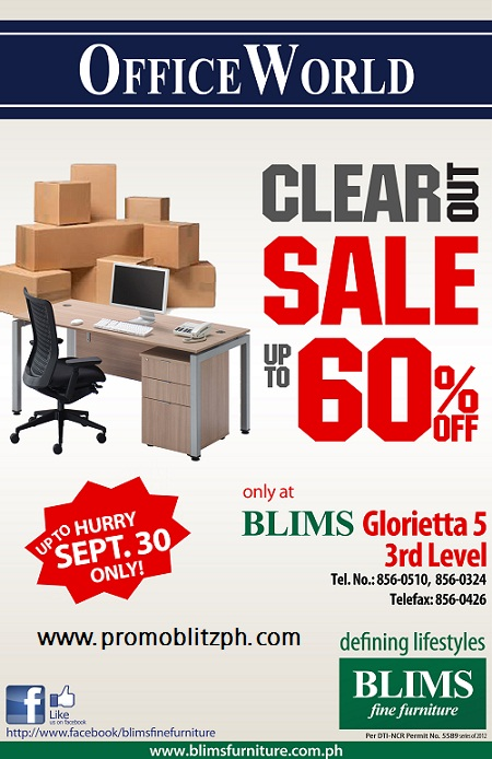 BLIMS Fine Furniture Office World Clear Our Sale
