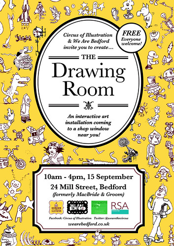 the-drawing-room-poster-orange by Doodle Howls