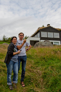 Reini and Mirjam Urban outside the cabin
