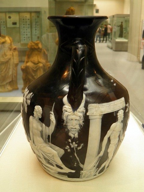 Detail: Junction of sides B & A of the Portland Vase. Cameo-glass, probably made in Italy ca. 5-25 AD