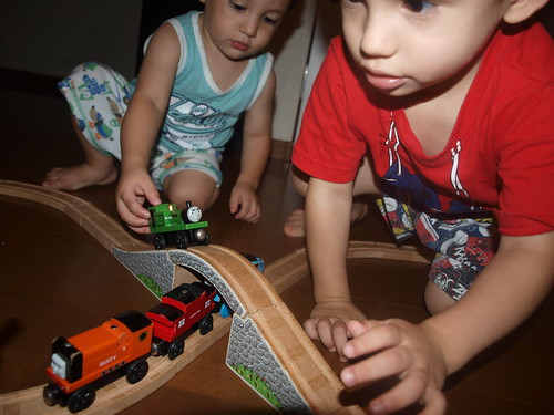 Train play, an everday thing!