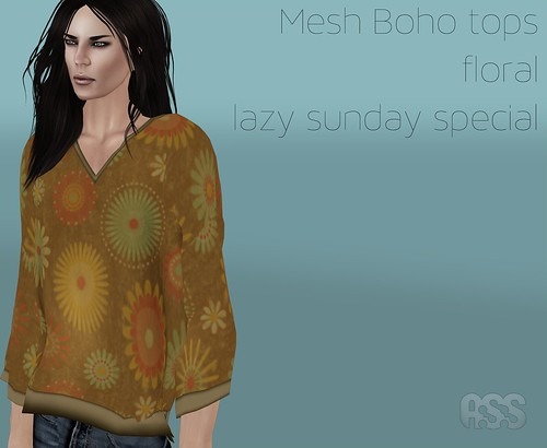 A:S:S - Boho mesh top, floral - for Lazy Sunday by Photos Nikolaidis