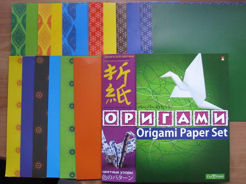 Бумага под оригами