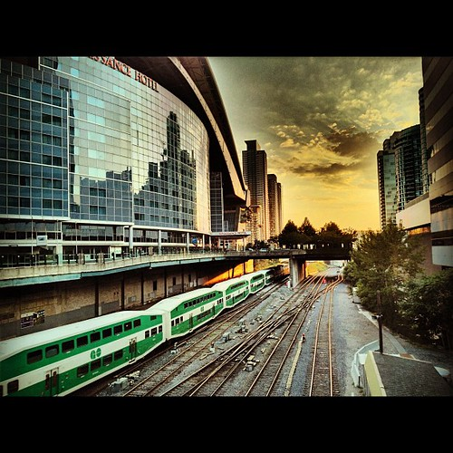Get on the GO...ride into the sunset. #Toronto #latergram by The Cach