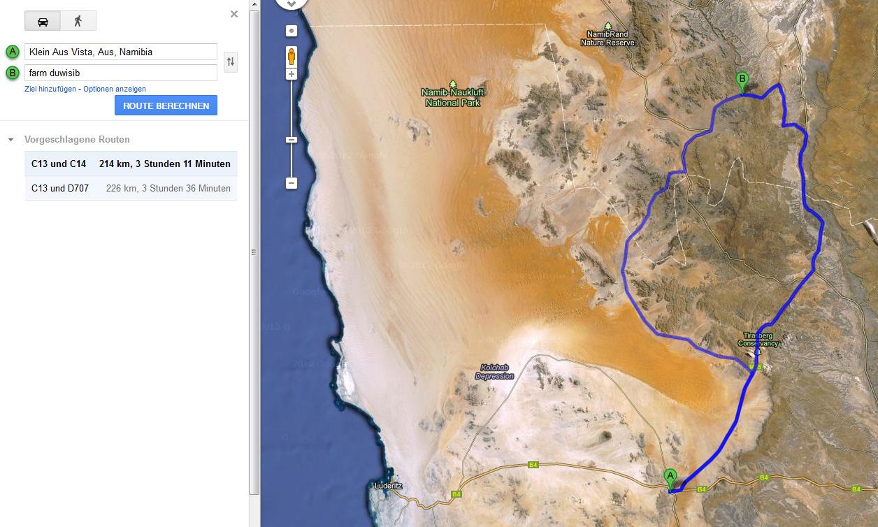 wegstrecke berechnen google maps