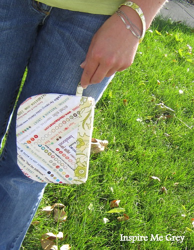 Garden Party Selvage Wristlet