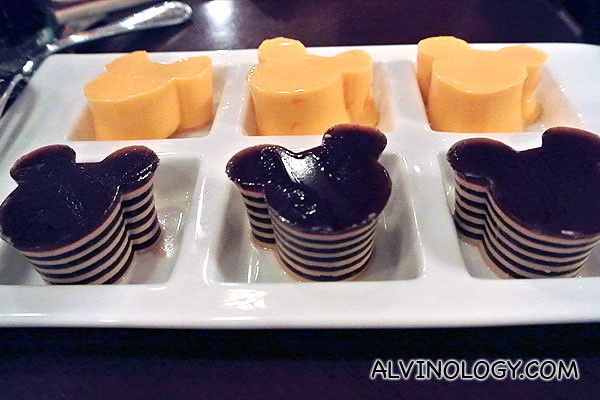 Disney puddings to round up the meal
