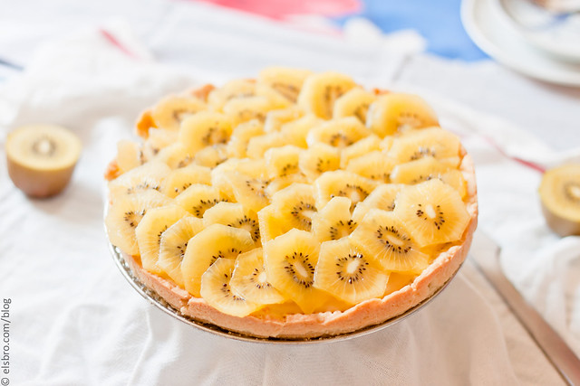 Gold Kiwi Custard Tart