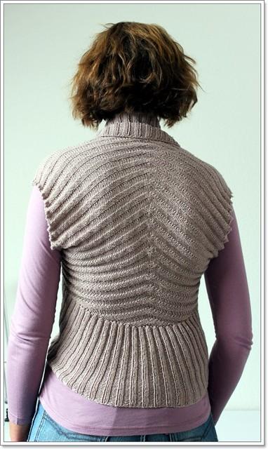 shawl collar vest