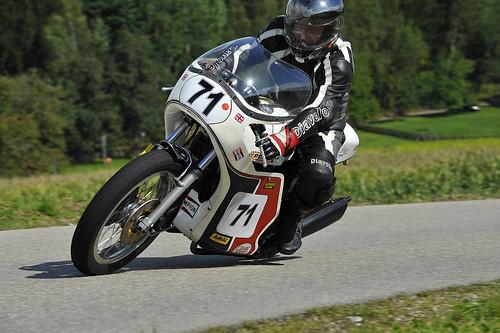 Slippery Sam Triumph classic racer motorcycle Schwanenstadt GP Austria Copyright 2012 B. Egger :: eu-moto images 0183
