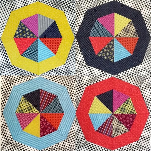4 of 12 Spinning Stars w/ Mosaicmaker