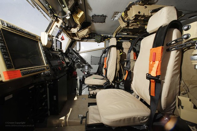 interior of foxhound light protected patrol vehicle in afghanistan flickr photo sharing. Black Bedroom Furniture Sets. Home Design Ideas