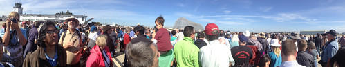 The crowd at NASA Ames waiting for Endeavour
