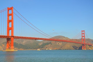 Space Shuttle  Endeavour over the Golden Gate Bridge 09-21-12