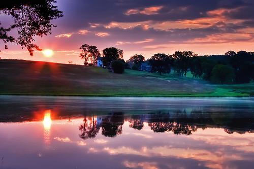 [フリー画像素材] 自然風景, 河川・湖, 朝焼け・夕焼け ID:201209260600