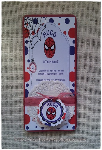 invitaciones niñas spiderman Merbo Events2