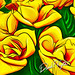 Yellow Roses created on an iPad in Procreate using an Apple Pencil