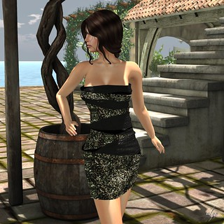 GLITTER - SUSY WRAPPED MESH DRESS