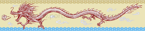 Chinese dragon illustration for Singapore Zoo - colour layout (watermarked)