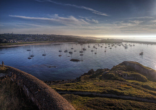 seascape water landscape boats bay harbor harbour sunsetlight alderney alderneyweek