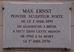 Photo of Max Ernst white plaque