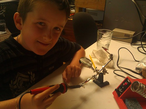 rowan learning to solder