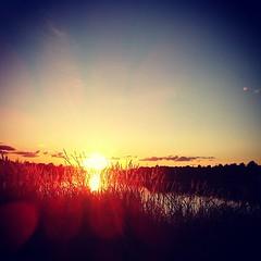 Sunset on Desna River