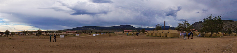 Panorama view of base camp