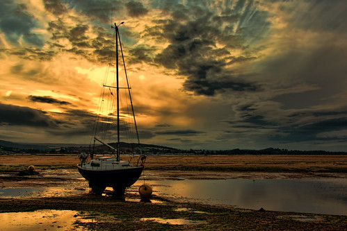 sunset sun evening boat yacht devon lowtide setting hdr exmouth thegut topazadjust sonya77 rememberthatmomentlevel1 rememberthatmomentlevel2