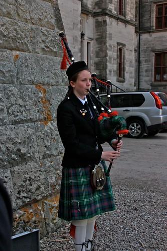 Piper at  Dunrobin Castle