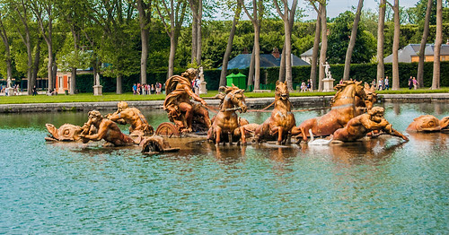 Versailles Gardens - The Gilded Apollo's Fountain