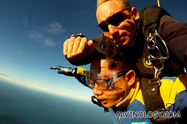 My instructor is really like a boss - can still pose nice nice for the camera