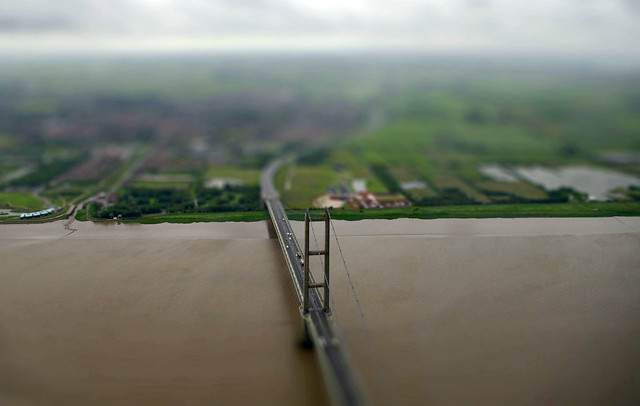 Humber Bridge - tiltshift