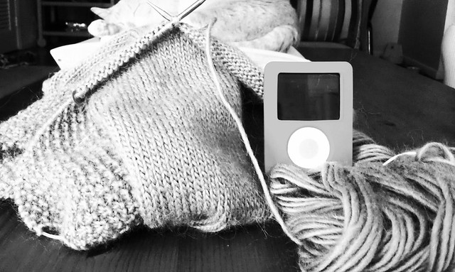 Knitting and audiobooks