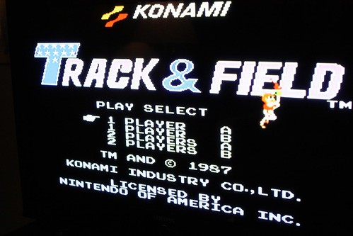 Konami Track & Field Title Screen (NES)